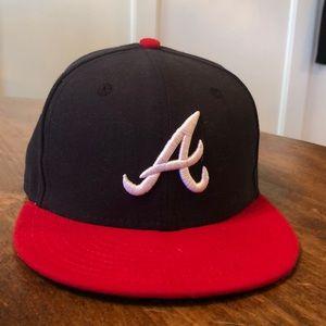 EUC Atlanta Braves fitted baseball cap or hat